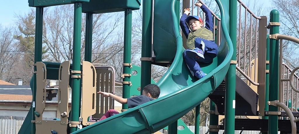 Boys on the slide
