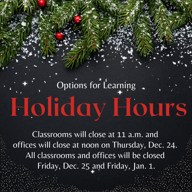 Options for Learning holiday hours Featured Photo