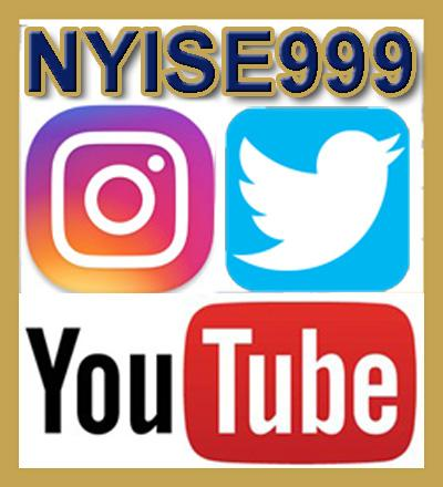 Follow us on social networks using NYISE999 on Twitter, Instagram and YouTube
