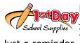 ist day school supplies