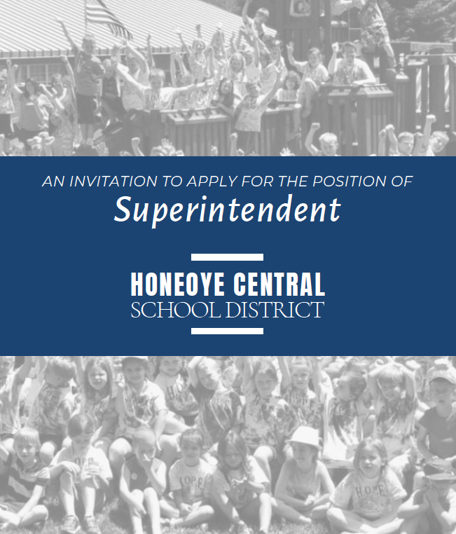 Cover to the brochure requesting applicants for the position of superintendent of schools.