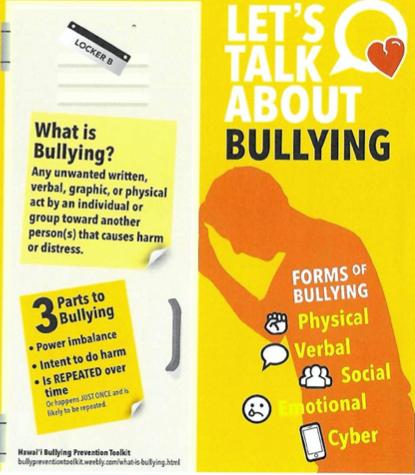 Teaser for flyer on bullying