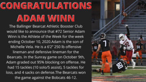 Athlete of the Week Adam Winn