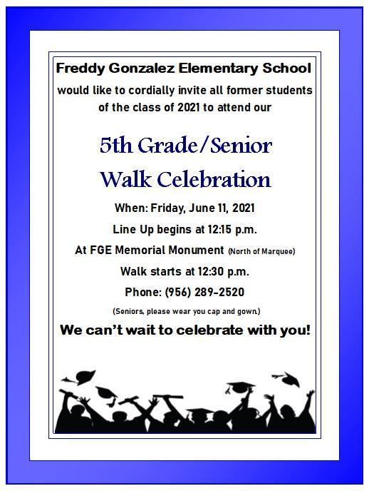 5th Grade/Senior Walk 2021