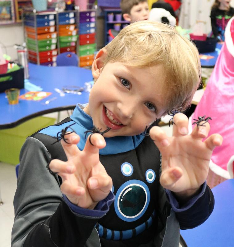 Photo of student dressed for Halloween at Tamaques.