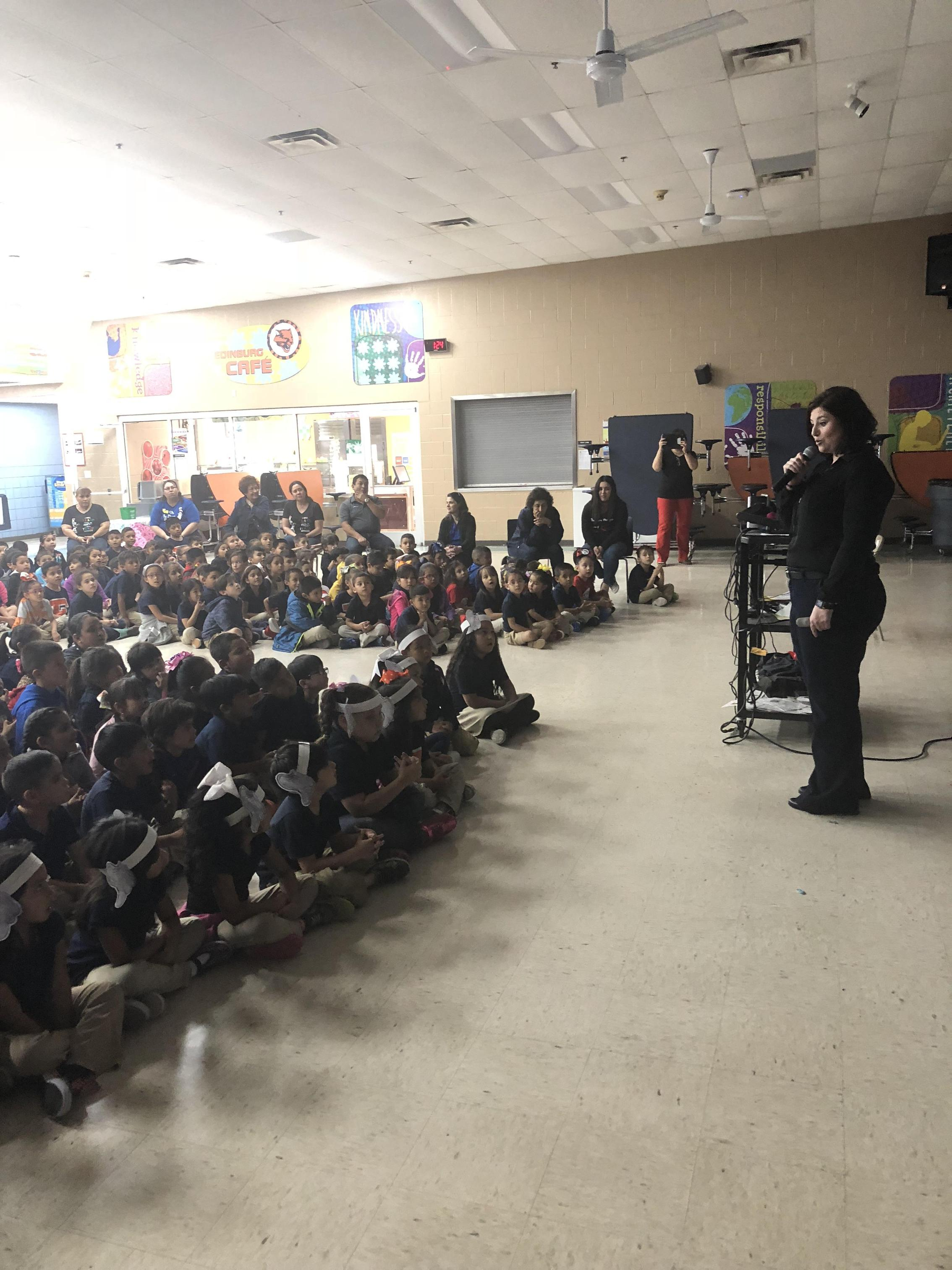 Author visit, Claudia Villarreal