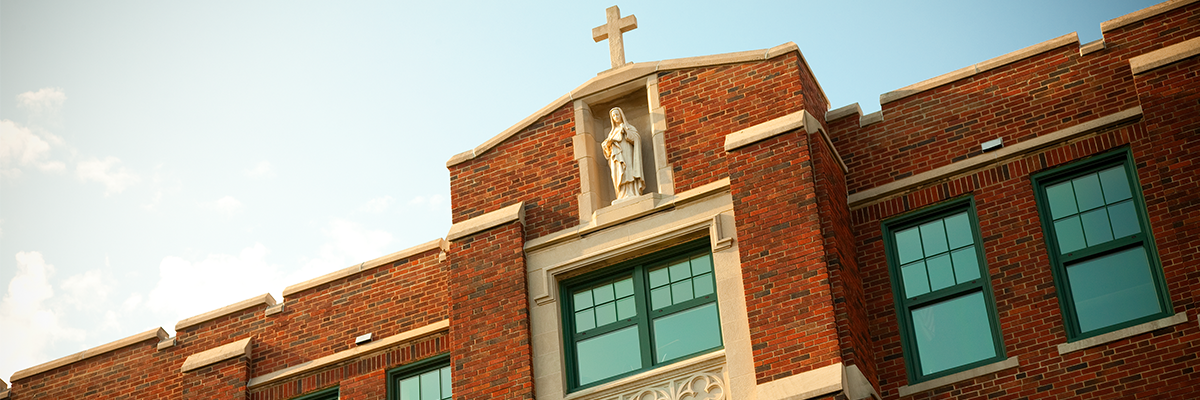 photo of the top of OLSH's building