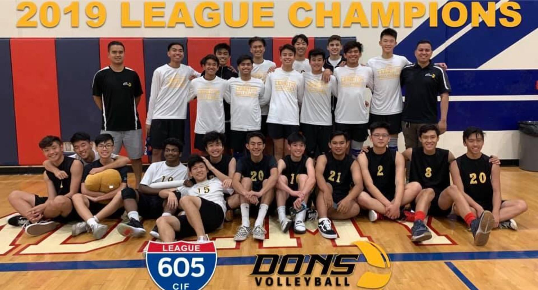 Boys Volleyball 2019 League Champions