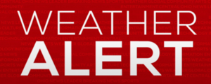 a graphic that says Weather Alert