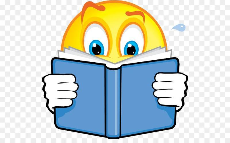 smiley face reading clipart