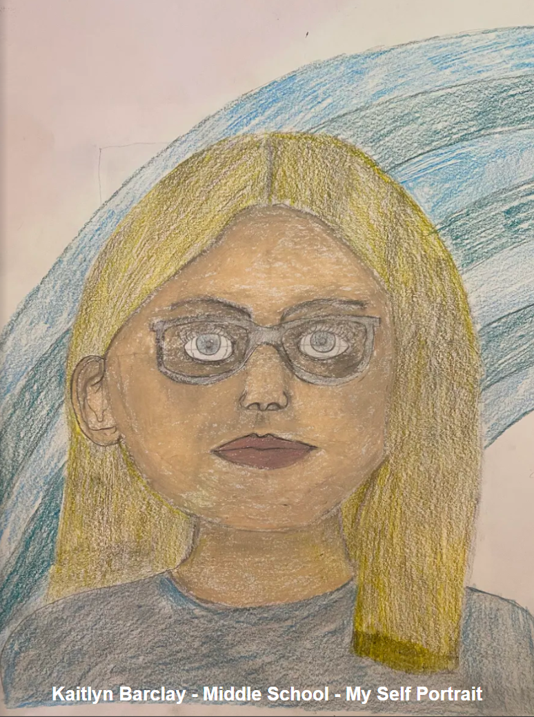 Kaitlyn Barclay - Middle School - Self Portrait