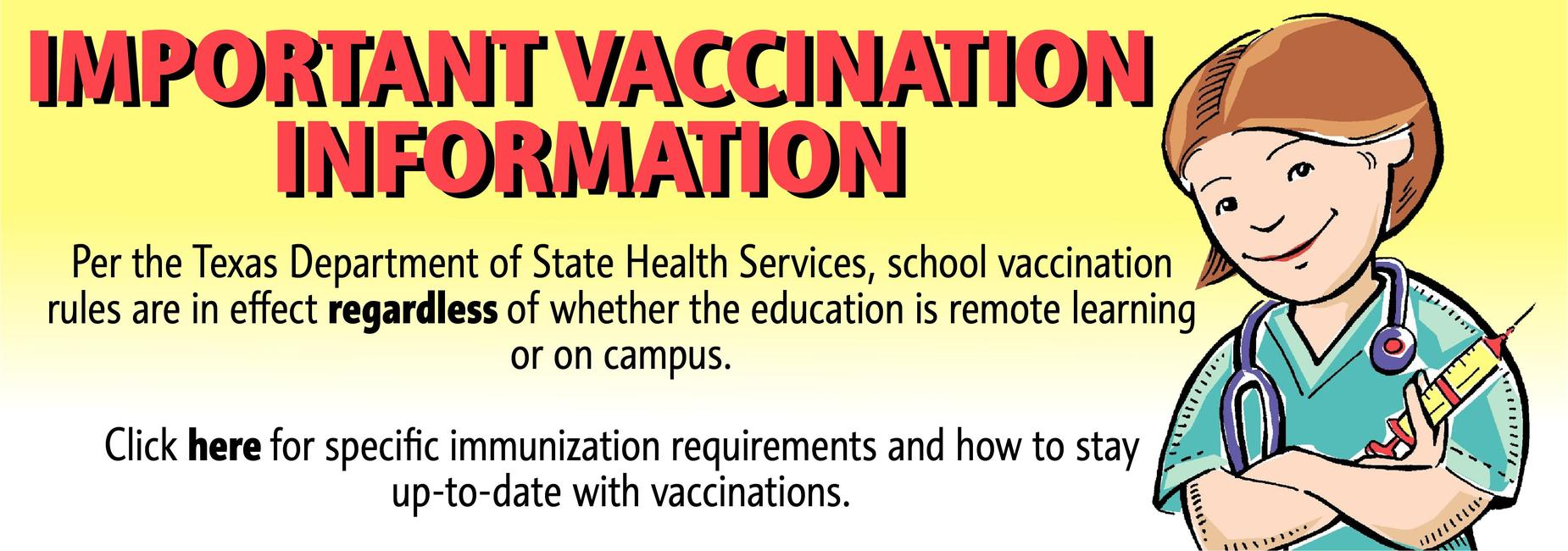 Important Vaccination Information
