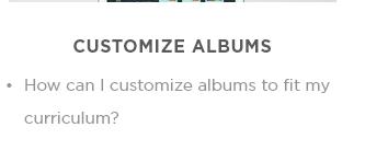 Customize albums