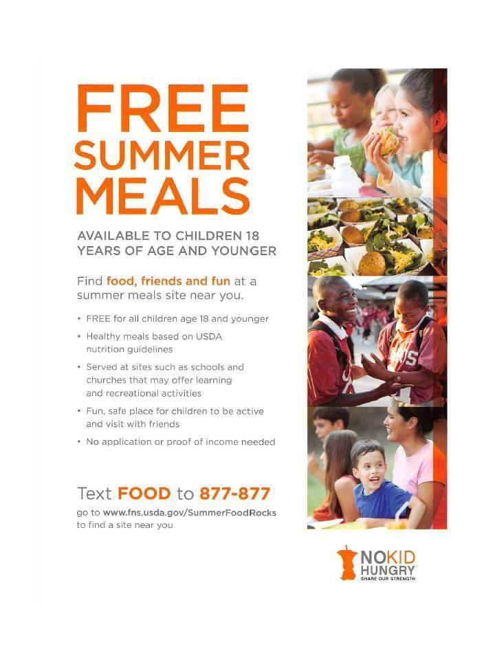 SFSP 2019 Summer Meals - Text Food to 877-877