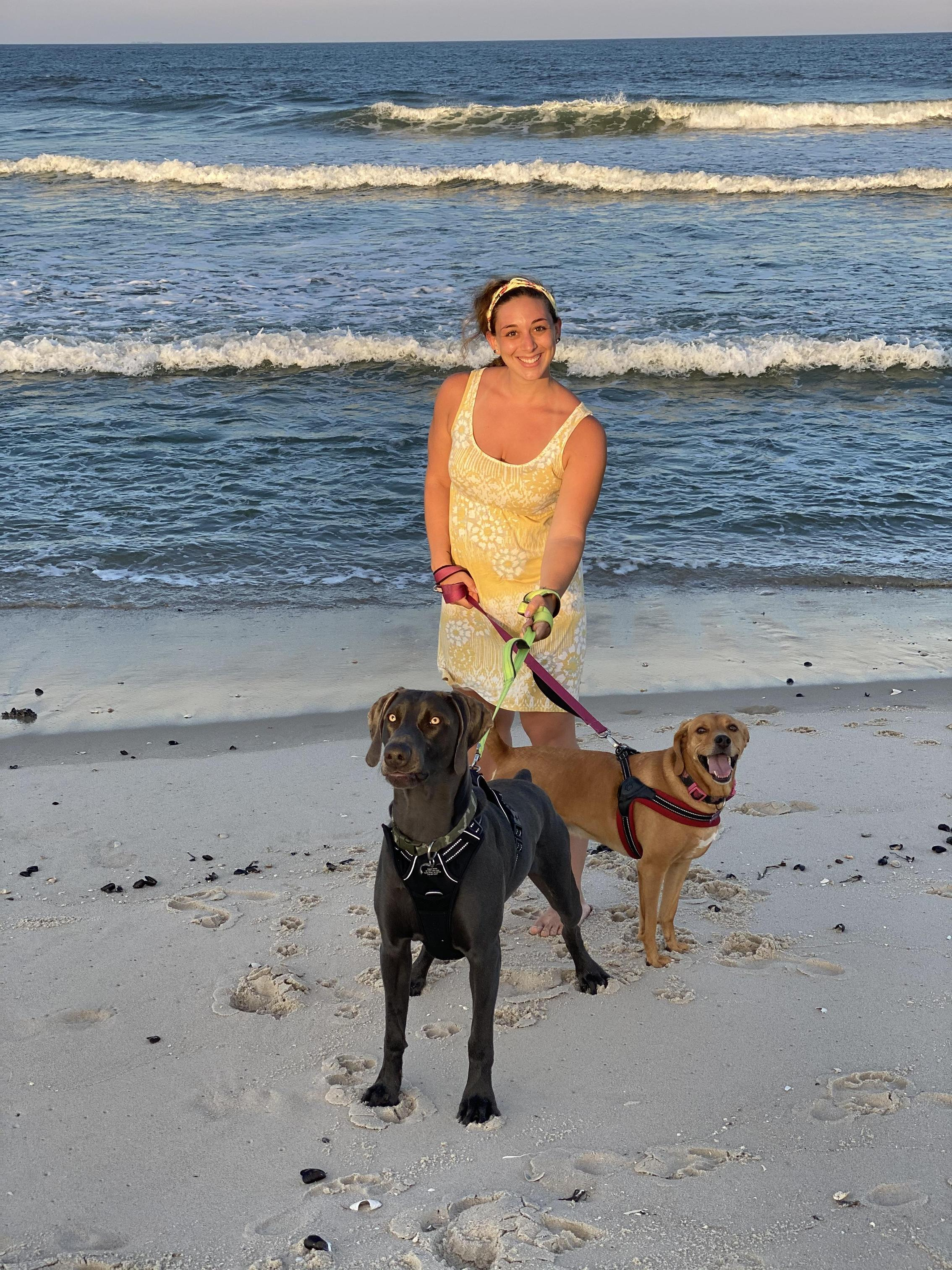 Here's a picture of me with my two dogs!