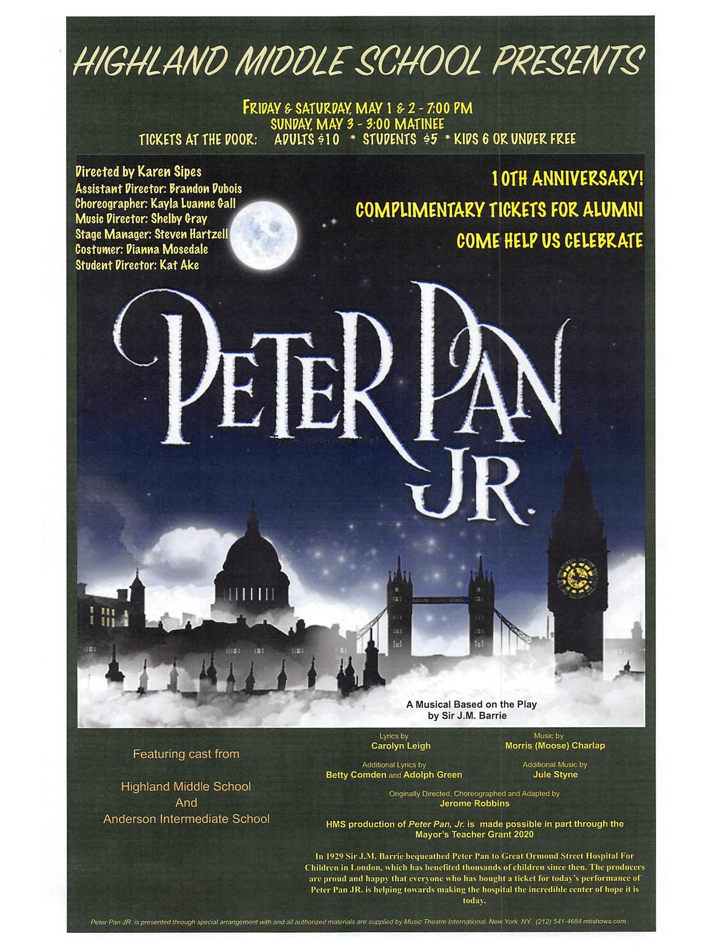 Peter Pan, Jr. (the musical)