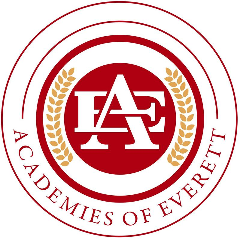 Academy logo featuring circular design with leafs