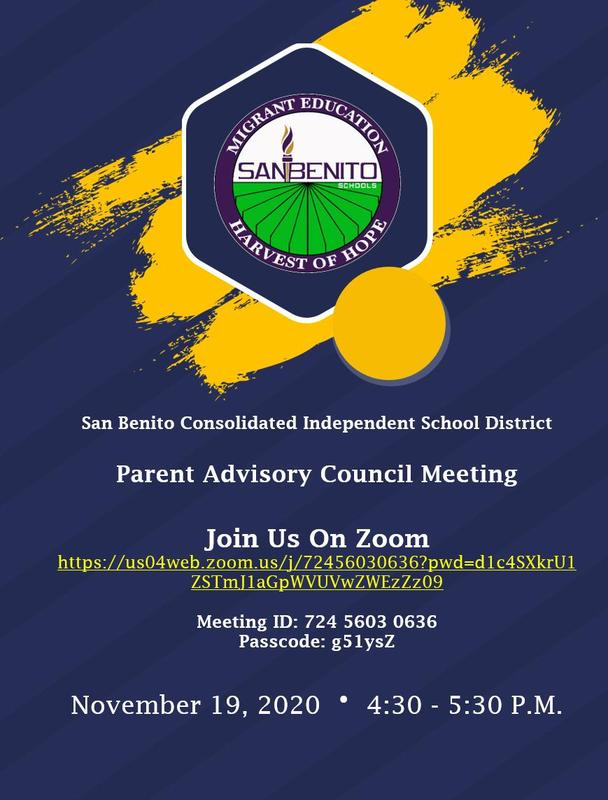 Parent Advisory Council Meeting