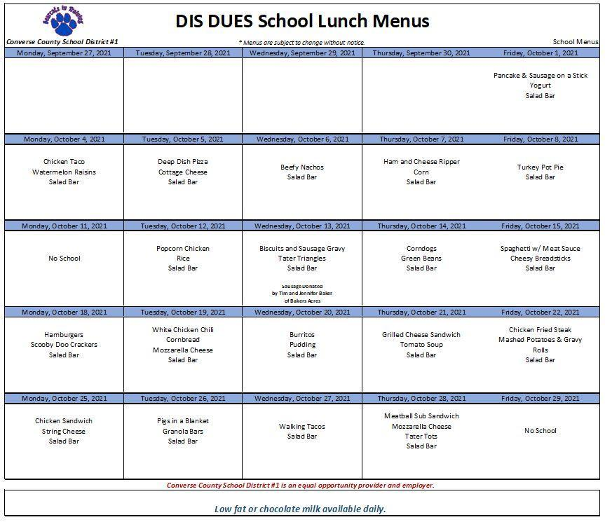 DIS DUES Oct 2021