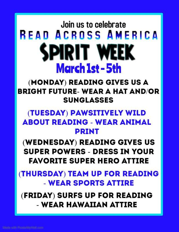 Read Across America March 1st - March 5th Featured Photo