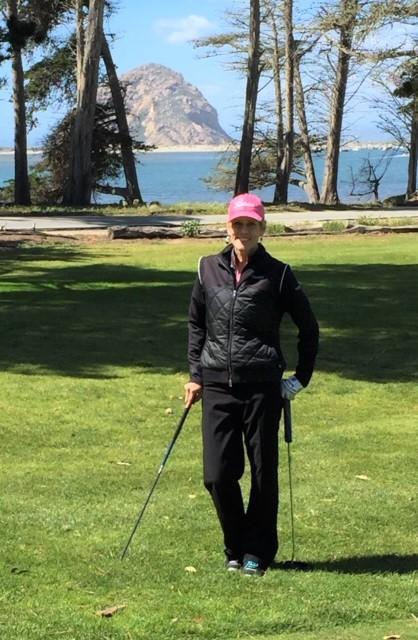 Me playing golf at Morro Bay