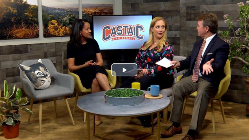 Castaic High School Principal Melanie Hagman on SCVTV's Community Corner