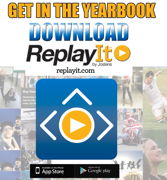 send pictures to yearbook with replay app