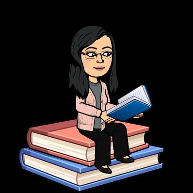 Bitmoji of Librarian reading