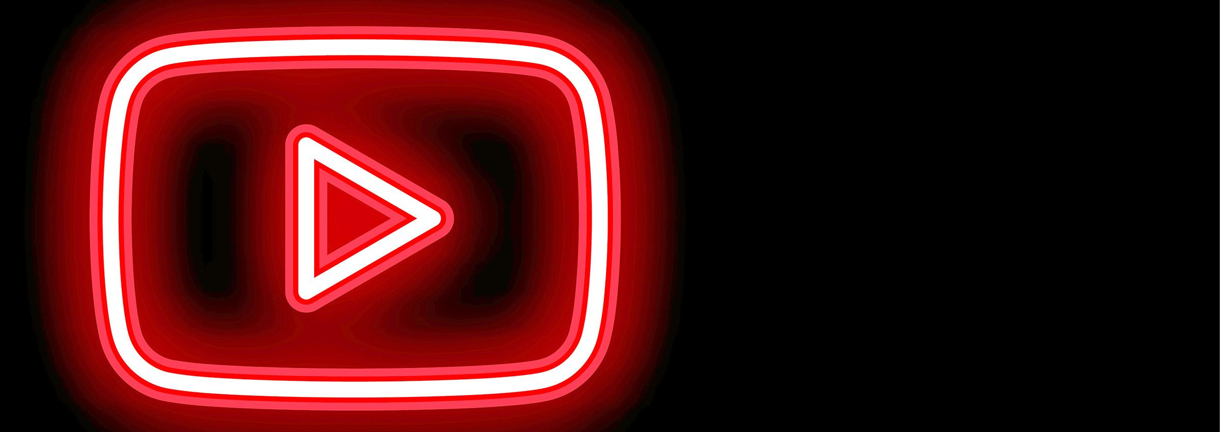 Neon YouTube logo