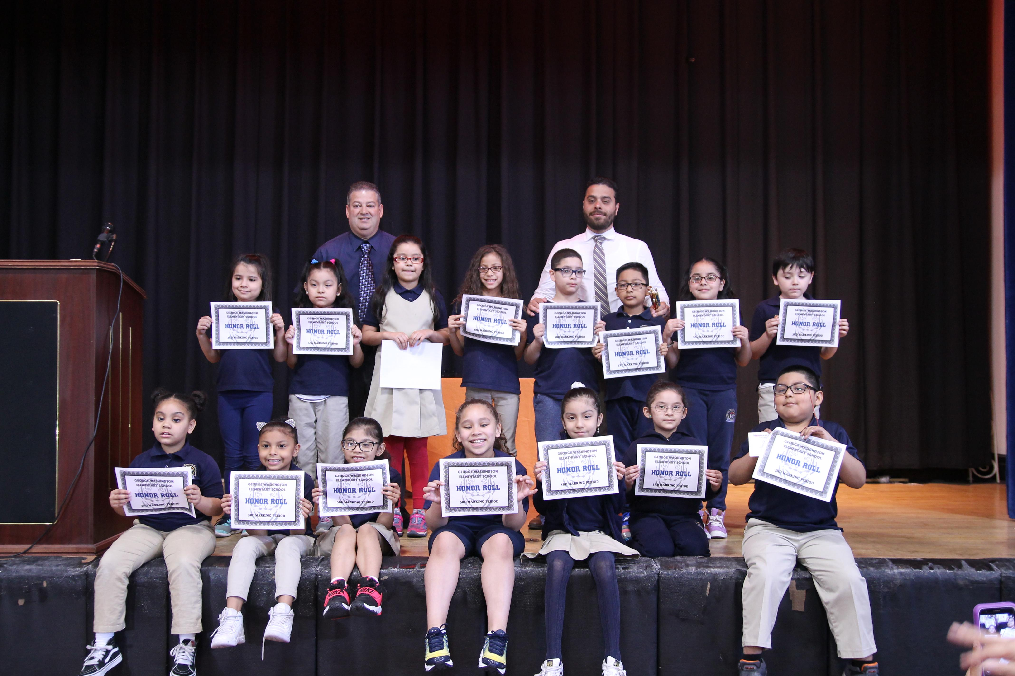 second grade honor roll students