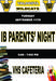 IB Parent Meeting