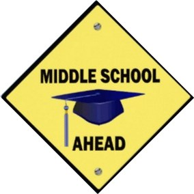 Middle school ahead logo