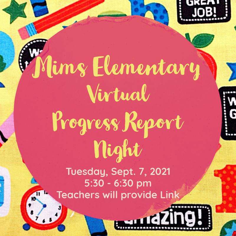 flyer for progress report night