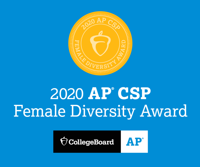 2020 AP Computer Science Female Diversity Award Featured Photo