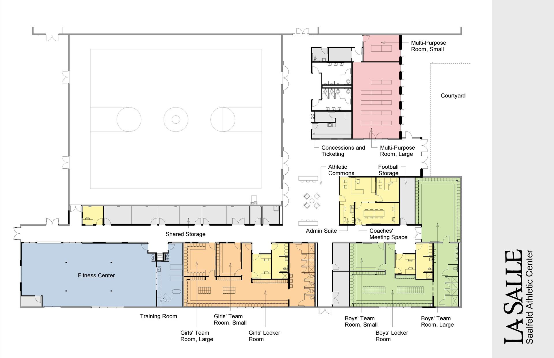 Saalfeld Athletic Center floor plan