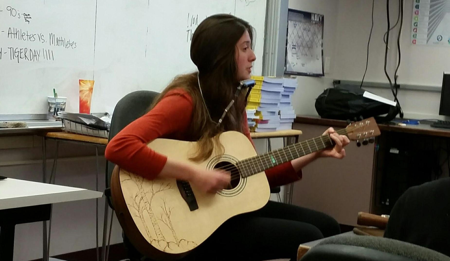 Anna built a guitar for her senior project