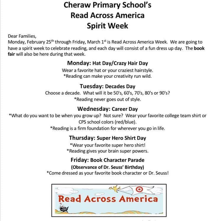 Read Across America Spirit Week is Next Week! Featured Photo