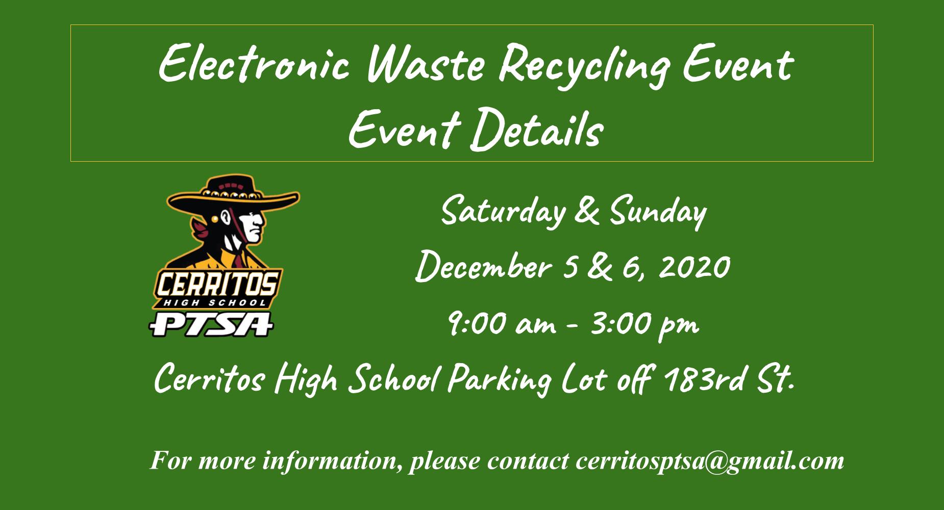 E-Waste Drive 12/5