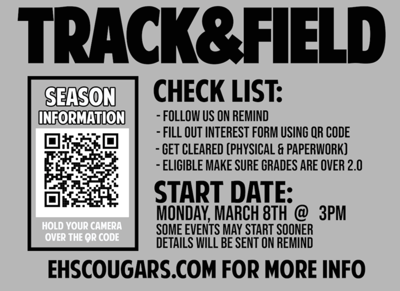 track and field sign ups