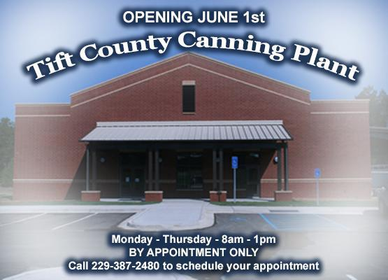 Tift County Canning Plant 2020 Opening