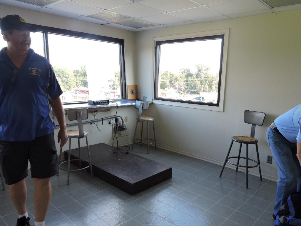 radio announcer room in press box