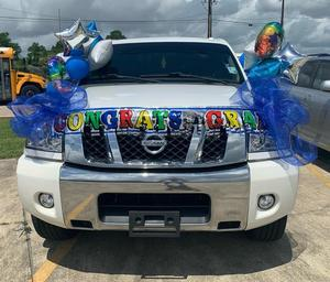 WSJH Student of the Year, Kaitlyn Narcisse, wins trophy for Best Decorated Vehicle
