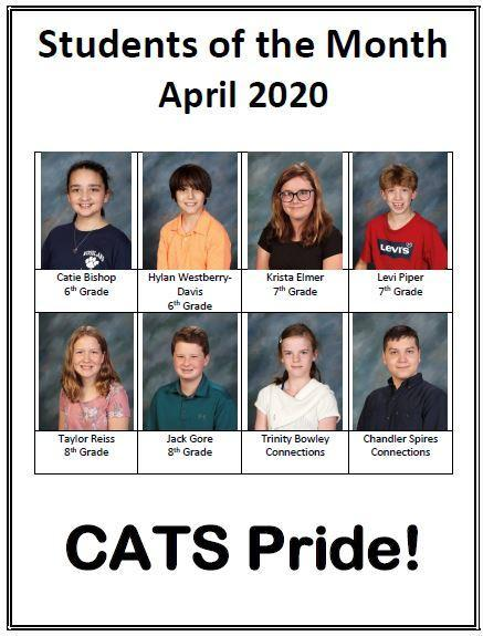 students of the month April