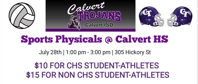 Sports Physicals At Calvert High School Featured Photo