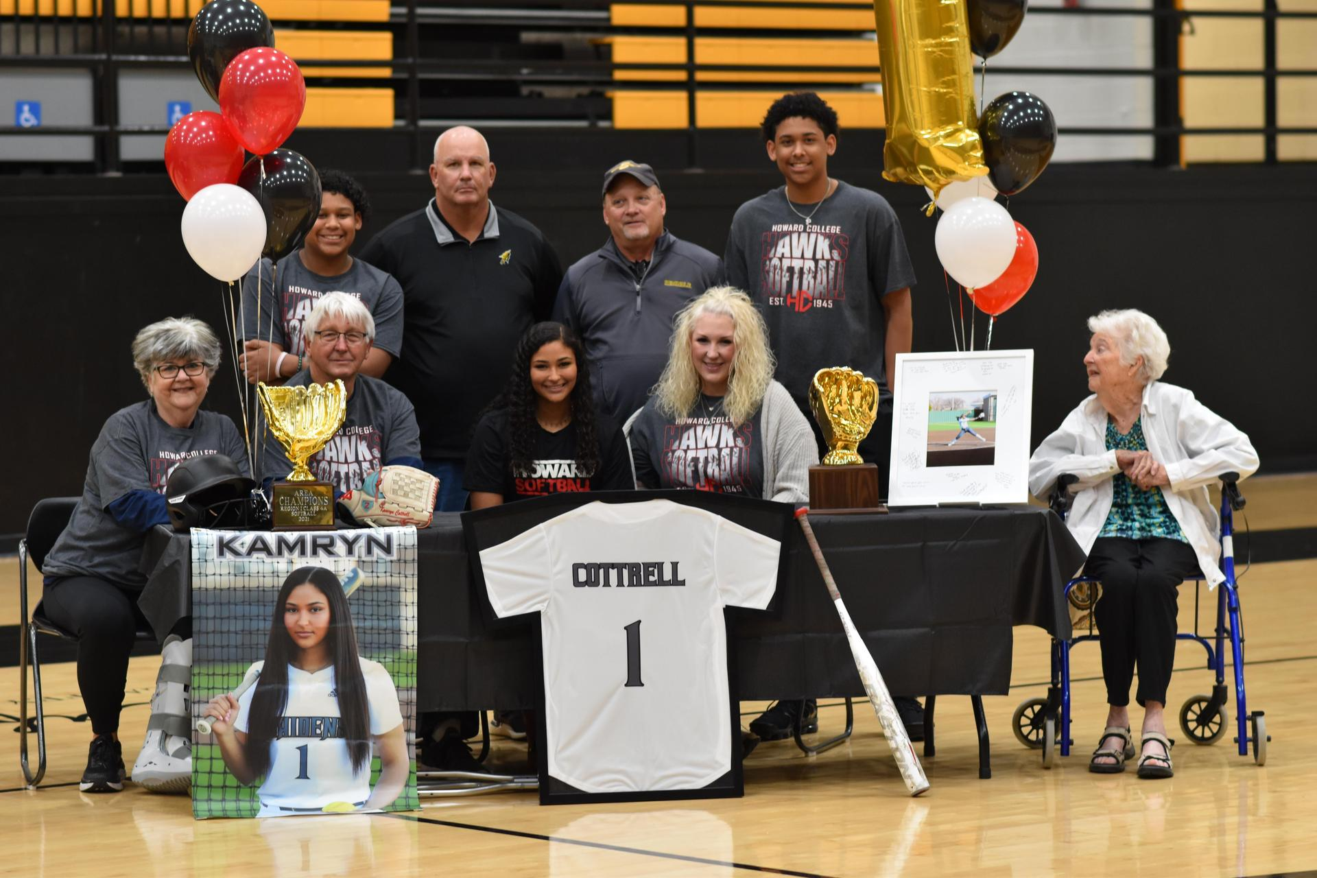kamryn cottrell college signing for softball