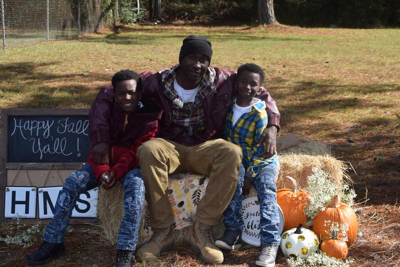 U.S. Soldier, La Damian Burton, surprises his sons at Higgins Middle School!