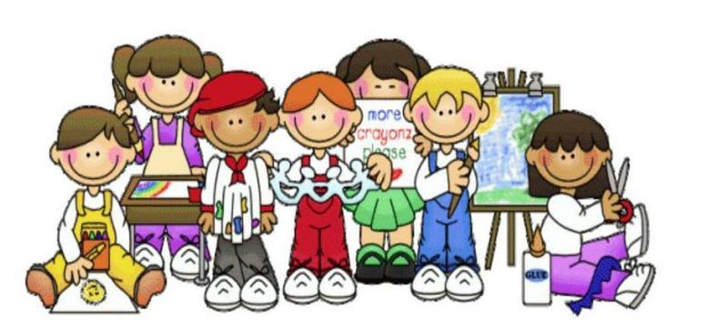 Cartoon graphic of children