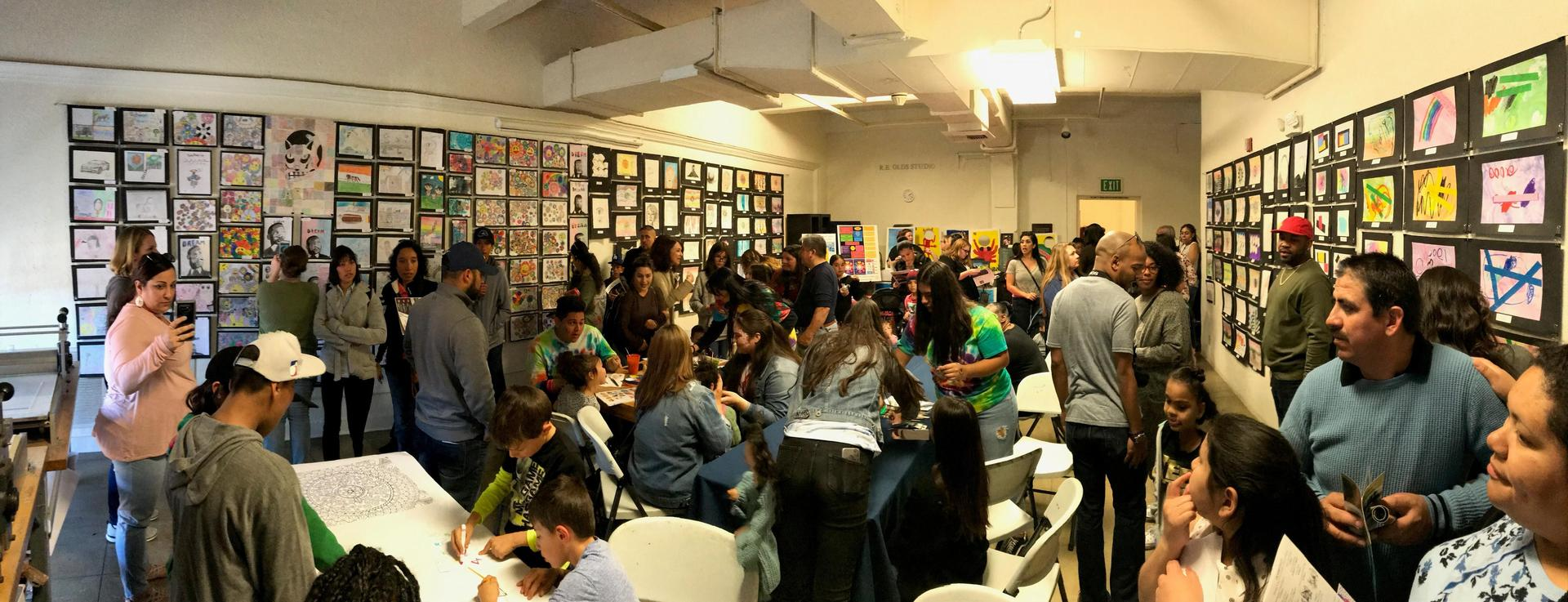 Panoramic Photo of Art Show