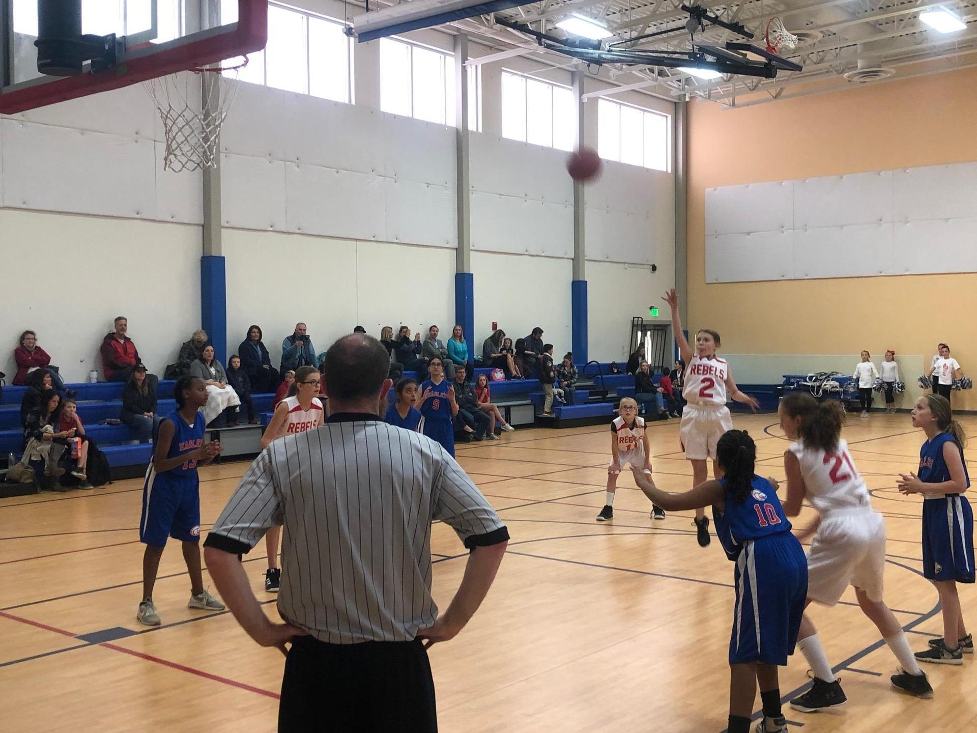 Girls Basketball jump shot