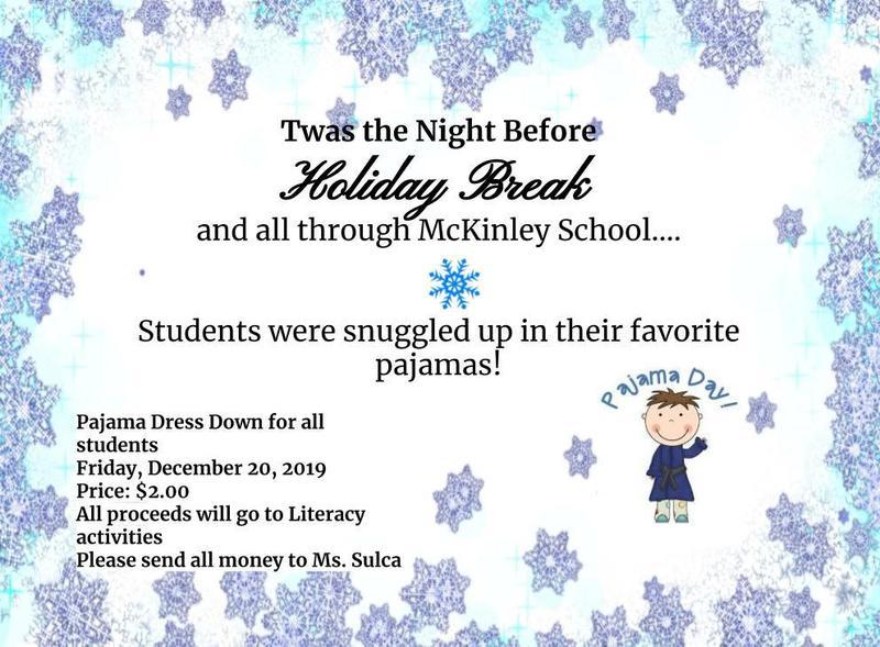 pajama day flyer $2